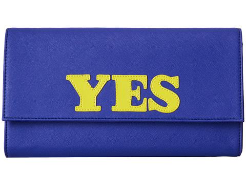 Jonathan Adler - Dorian Yes/No Clutch (Bright Navy) Clutch Handbags