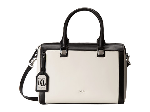 LAUREN by Ralph Lauren - Ashford Satchel (Vanilla/Black) Satchel Handbags