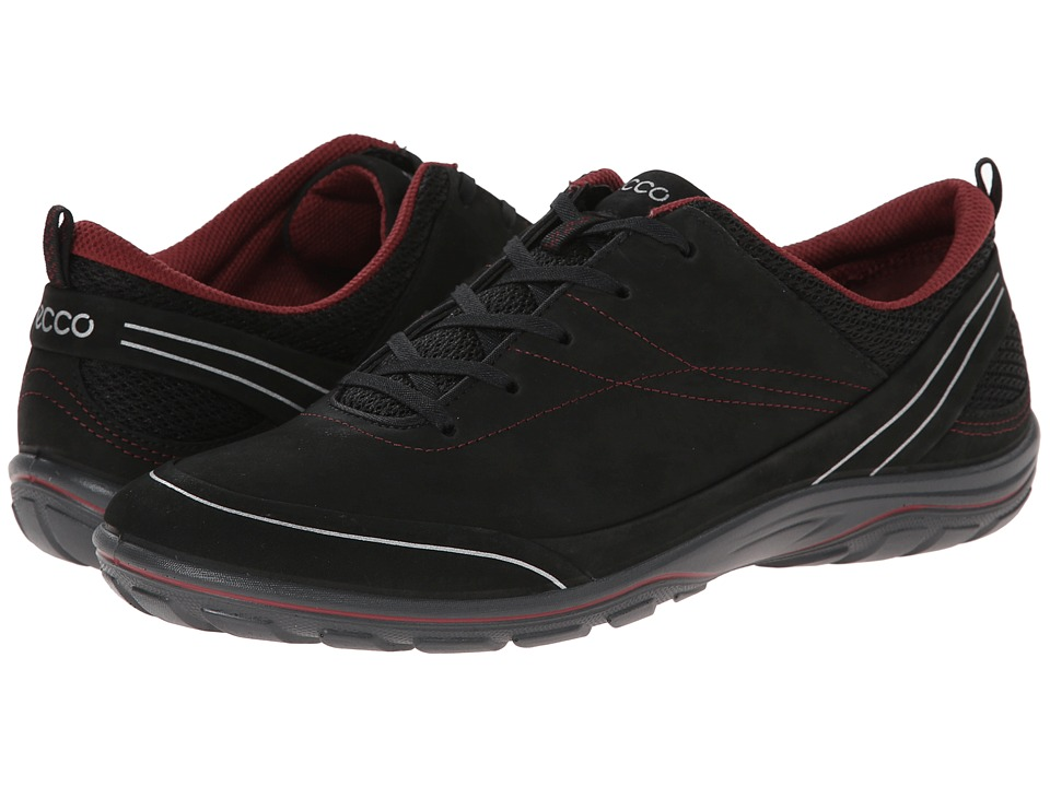 ECCO Sport - Arizona Tie (Black/Petal Trim) Women's Shoes