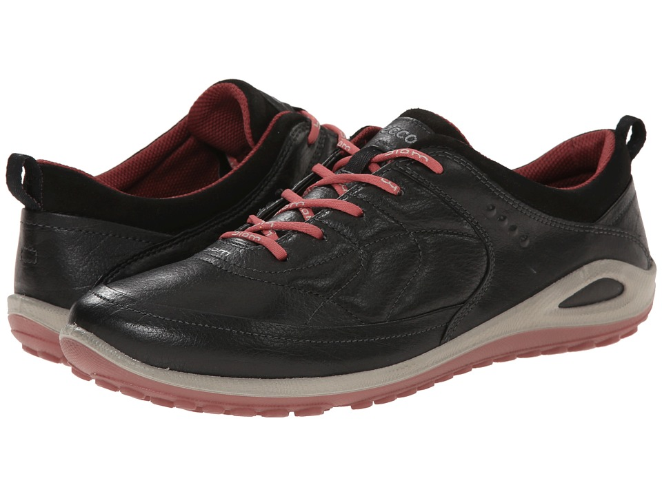 ECCO Sport - Biom Grip Lite Plus (Black/Petal Trim) Women's Lace up casual Shoes