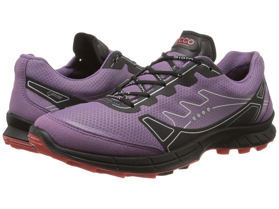 ECCO Sport - Biom Trail FL GTX (Grape/Grape/Poppy) Women's Lace up casual Shoes