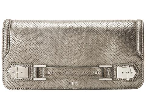 LAUREN by Ralph Lauren - Newbury Snake Clutch (Mercury) Clutch Handbags