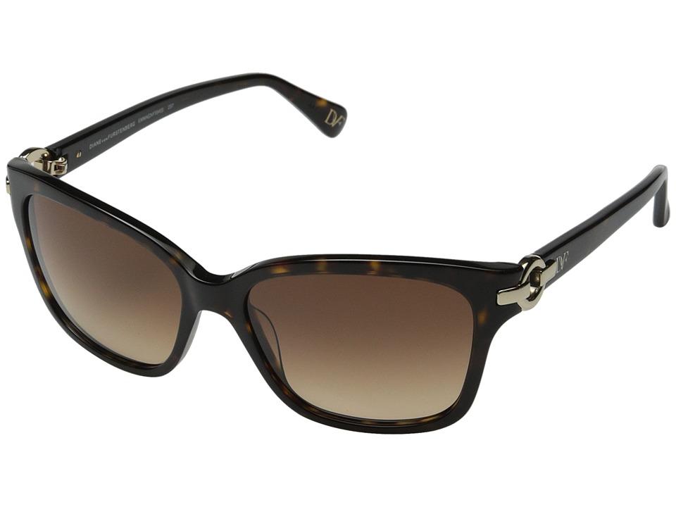 Diane von Furstenberg - Emma (Dark Tortoise) Fashion Sunglasses