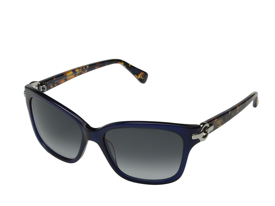 Diane von Furstenberg - Emma (Blue) Fashion Sunglasses