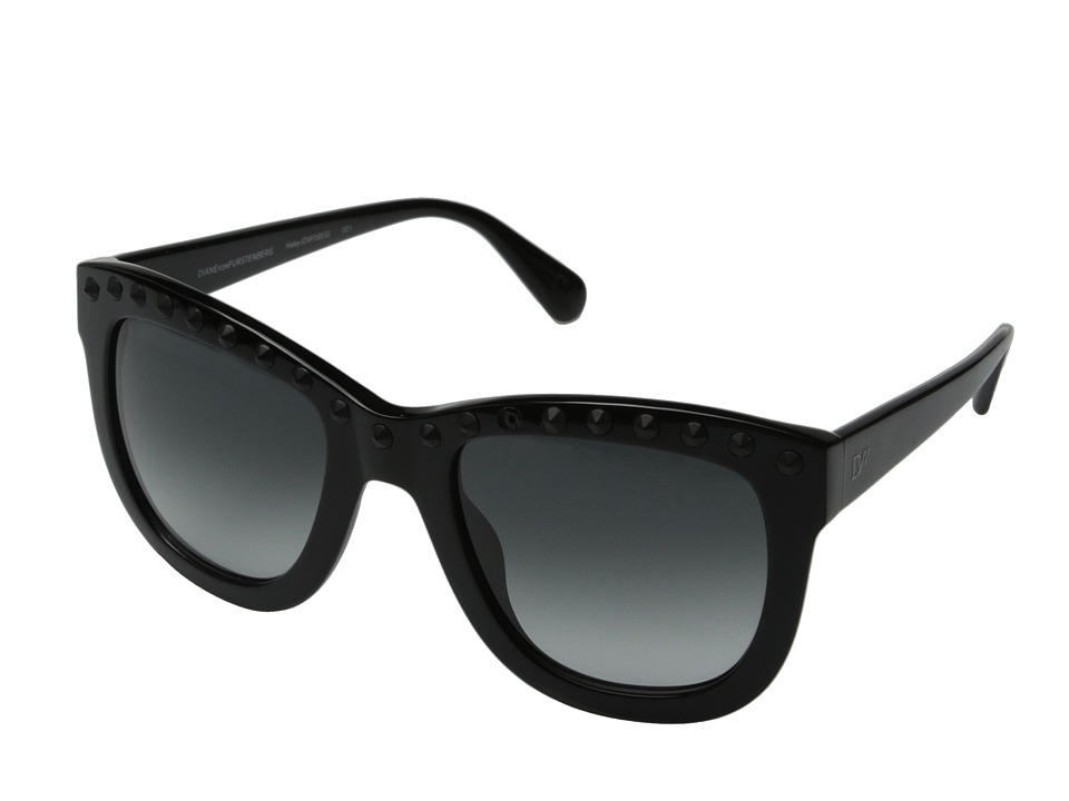 Diane von Furstenberg - Haley (Black) Fashion Sunglasses