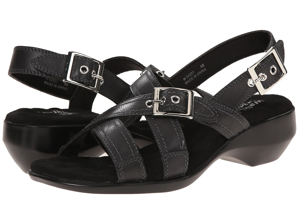 Walking Cradles - Lythe (Black Leather) Women's Sandals