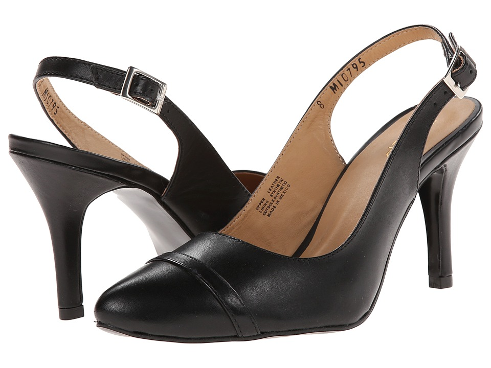 rsvp - Reggina (Black Leather) Women's Slip-on Dress Shoes