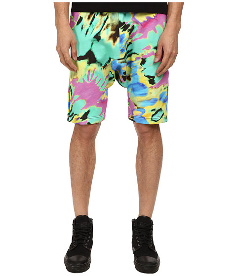 LOVE Moschino - Tie-Dye Jogging Shorts (Multi) Men's Shorts