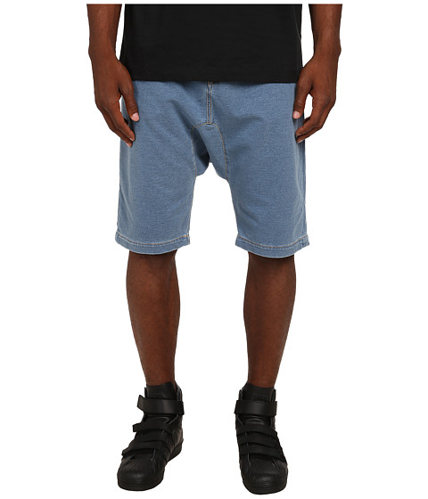 LOVE Moschino - Denim Look Shorts (Blue) Men's Shorts