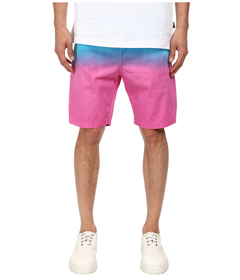 LOVE Moschino - Ombre Bermuda Shorts (Blue/Yellow) Men's Shorts