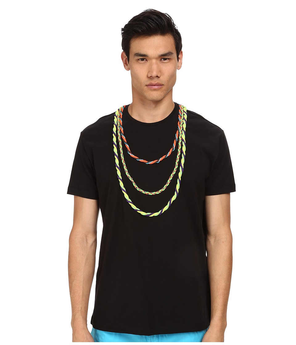 LOVE Moschino - Necklace Detail Large Fit Tee (Black Multi) Men's Short Sleeve Pullover