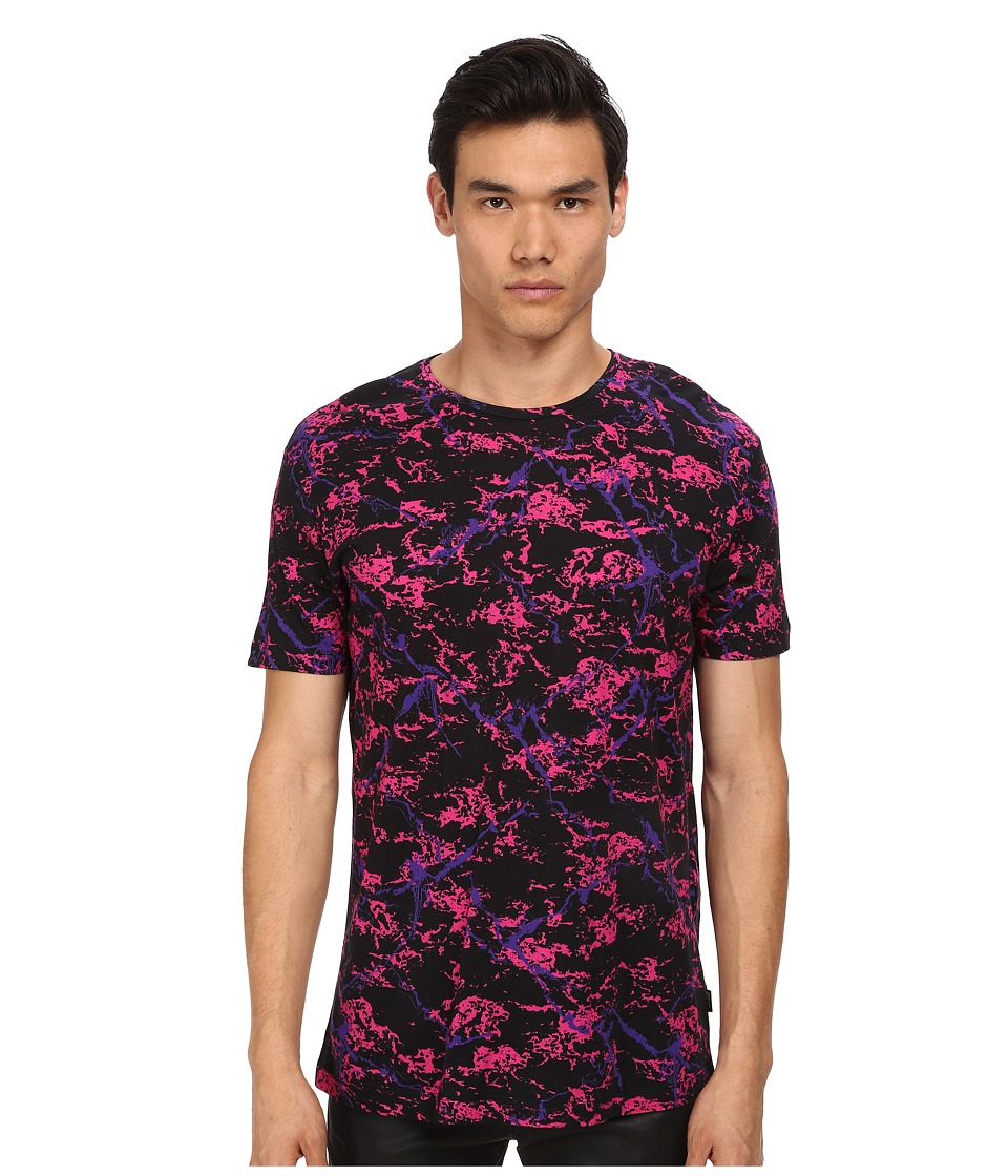 LOVE Moschino - Splatter Print Large Fit Tee (Black Multi) Men's Short Sleeve Pullover