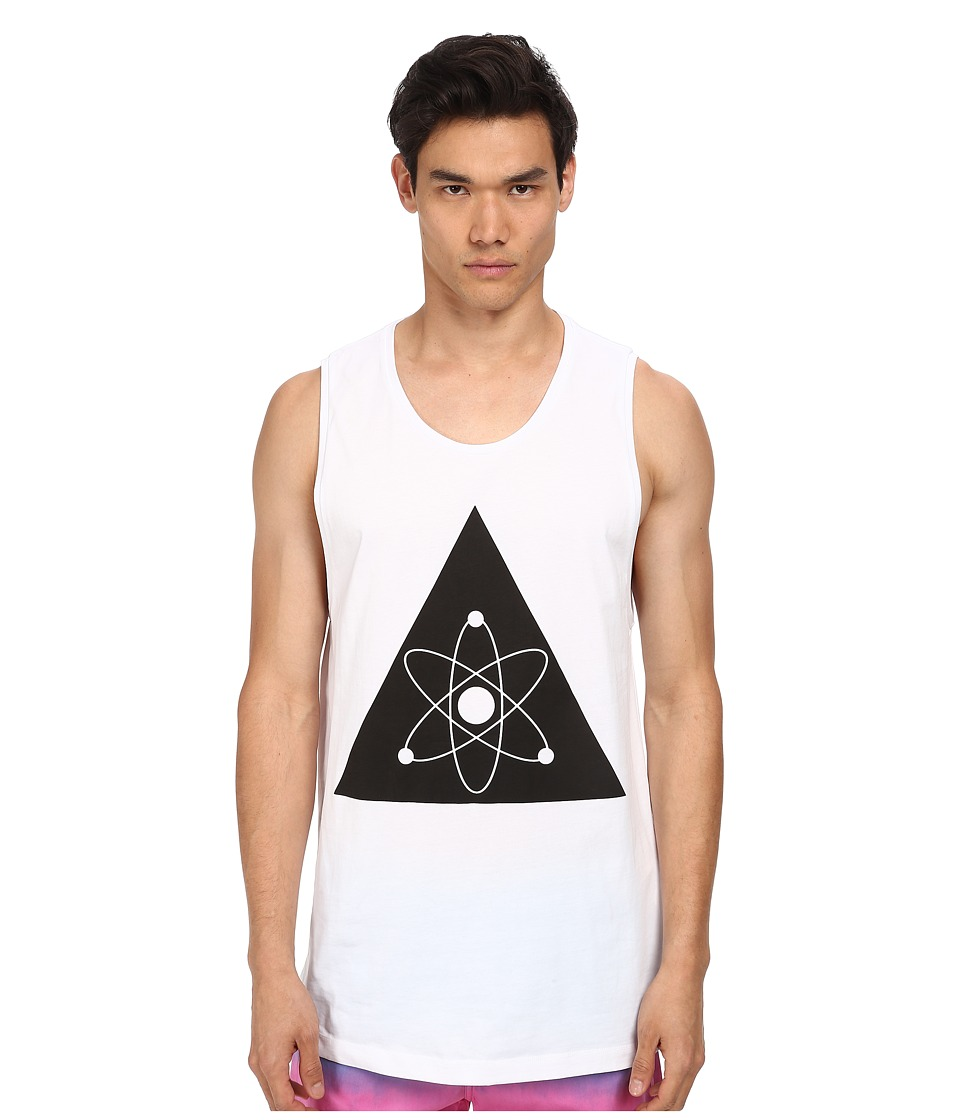LOVE Moschino - Galaxy Over Fit Tank (White) Men's Sleeveless