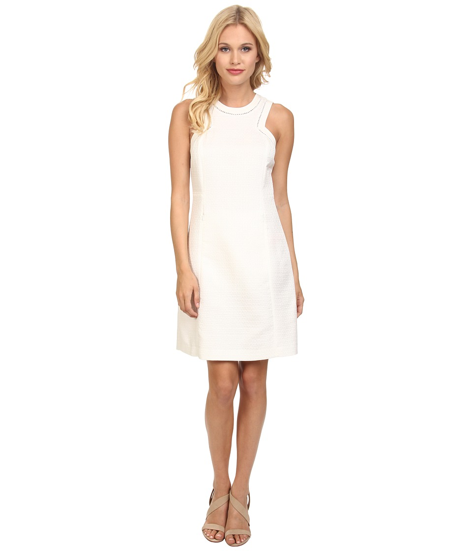 Rebecca Taylor - Sleeveless Matelasse Dress (Chalk) Women's Dress