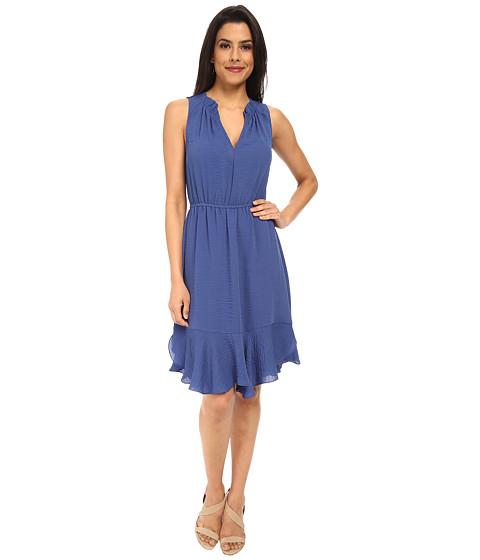 Rebecca Taylor - Sleeveless Crepe Gauze Ruffle Dress (Ultramarine) Women's Dress