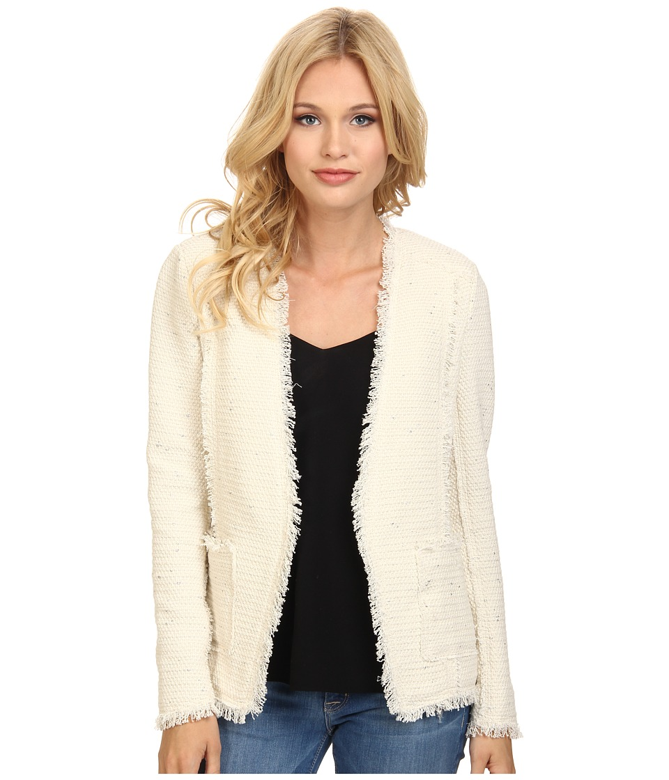 Rebecca Taylor - Sparkle Stretch Blazer (Cream) Women's Jacket
