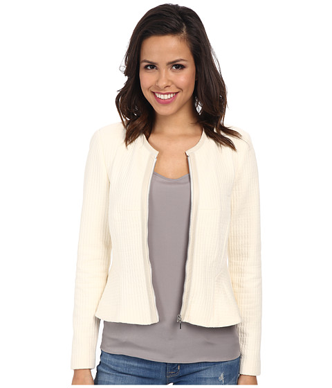 Rebecca Taylor - Double Face Jersey Jacket (Chalk) Women