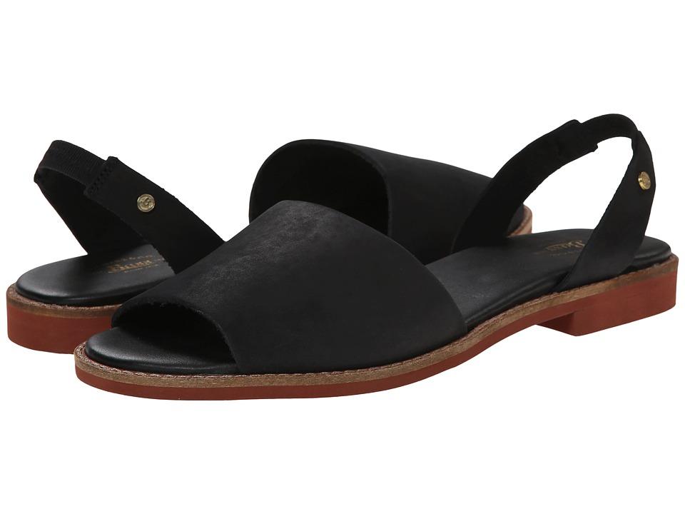 Bass - Erika (Black Nubuck Leather) Women's Sandals