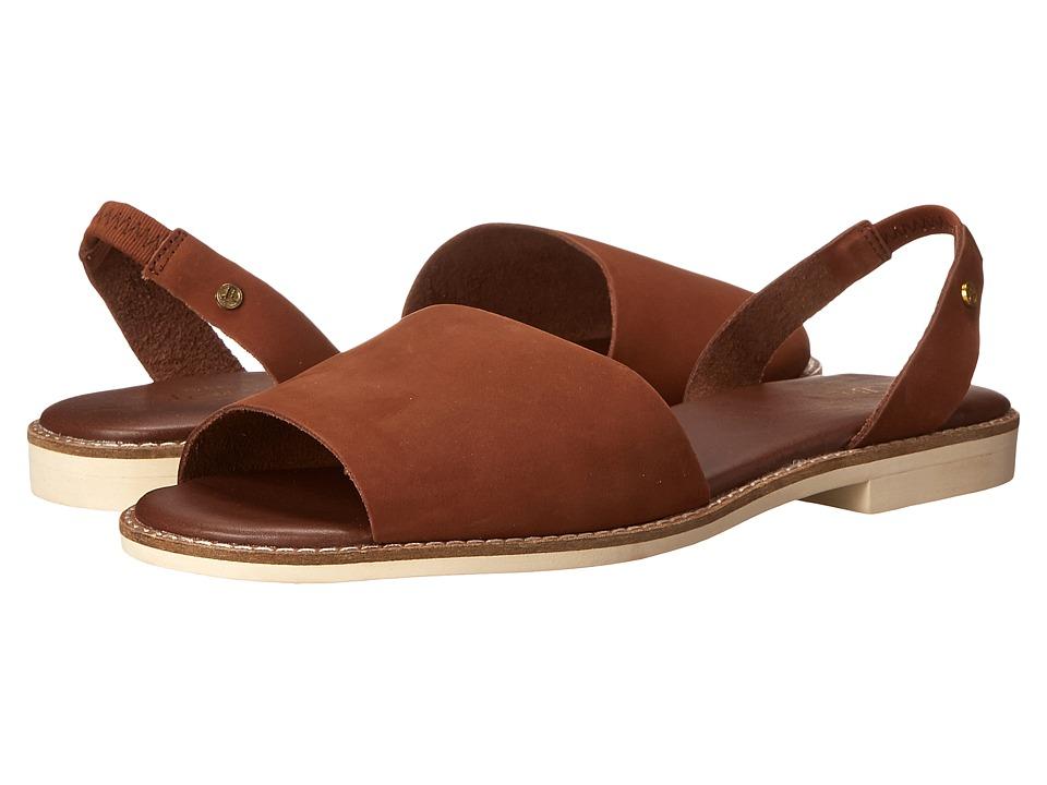 Bass - Erika (Cognac Nubuck Leather) Women's Sandals