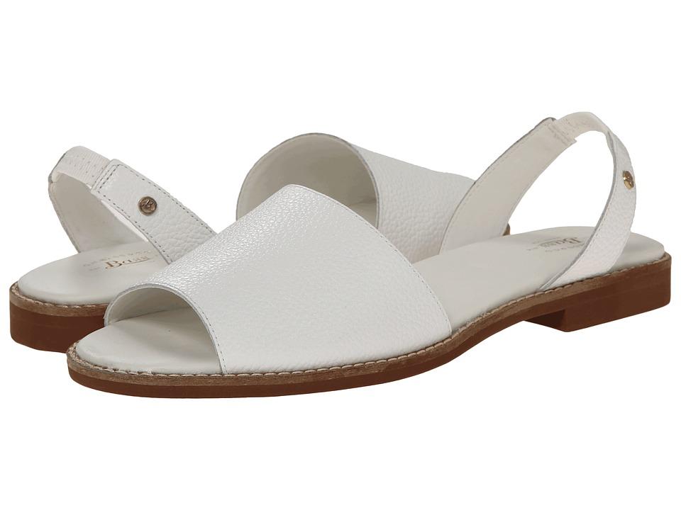 Bass - Erika (White Leather) Women's Sandals