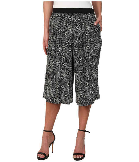 Rebecca Taylor - Etch Print Culotte (Black) Women's Clothing