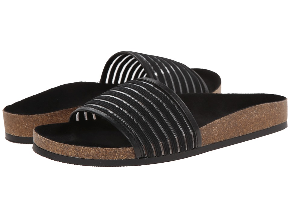 Bass - Harvey (Black Elastic/Smooth Leather) Women's Sandals