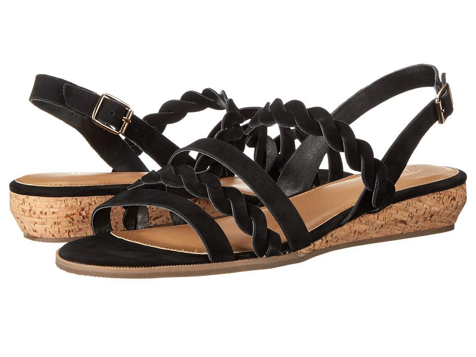 Bass - Jolie (Black Nubuck) Women's Sandals