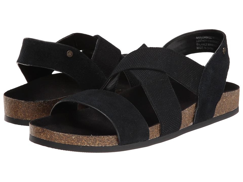 Bass - Harlem (Black Cow Suede) Women's Sandals