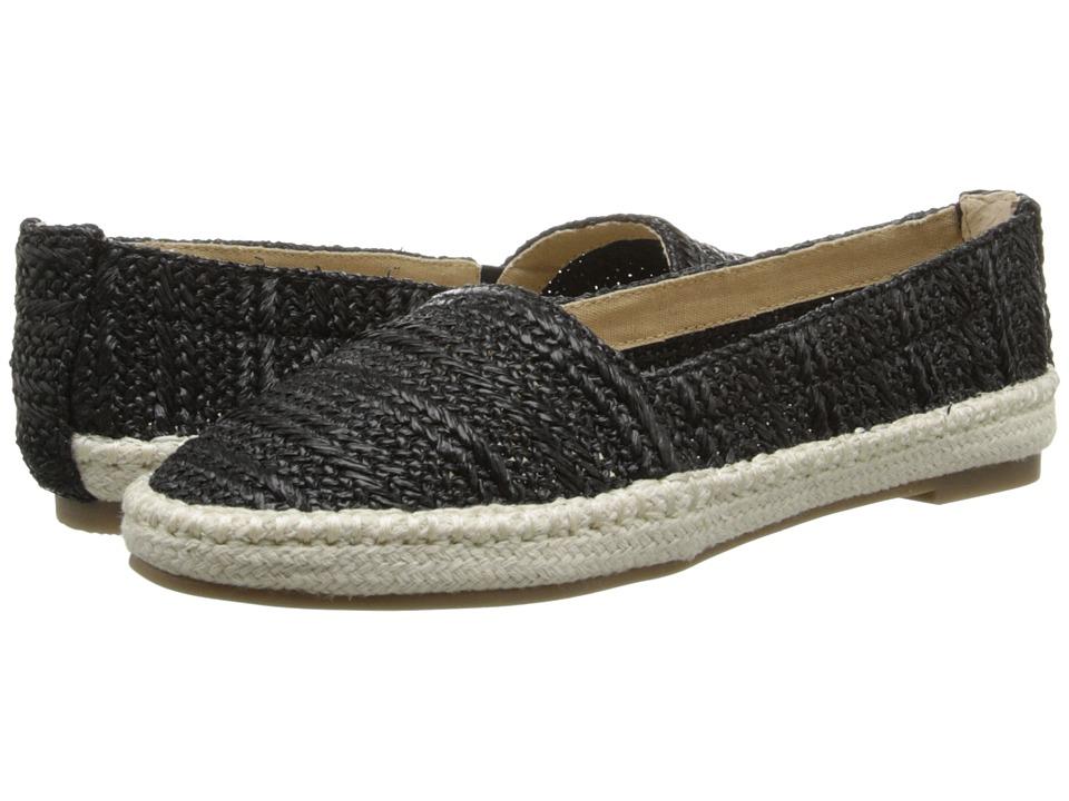 Bass - Nara (Black Raffia Woven) Women's Sandals