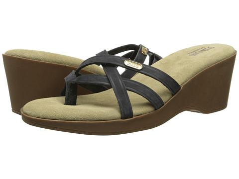 Bass - Whitley (Black Nubuck Leather) Women's Sandals