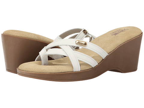 Bass - Whitley (White Nubuck Leather) Women's Sandals