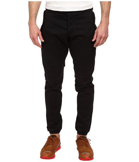 French Connection - Machine Gun Banded Bottom (Black) Men's Casual Pants