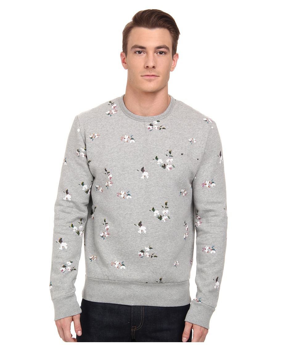 French Connection - Blossom Printed Sweat (Grey Mel) Men