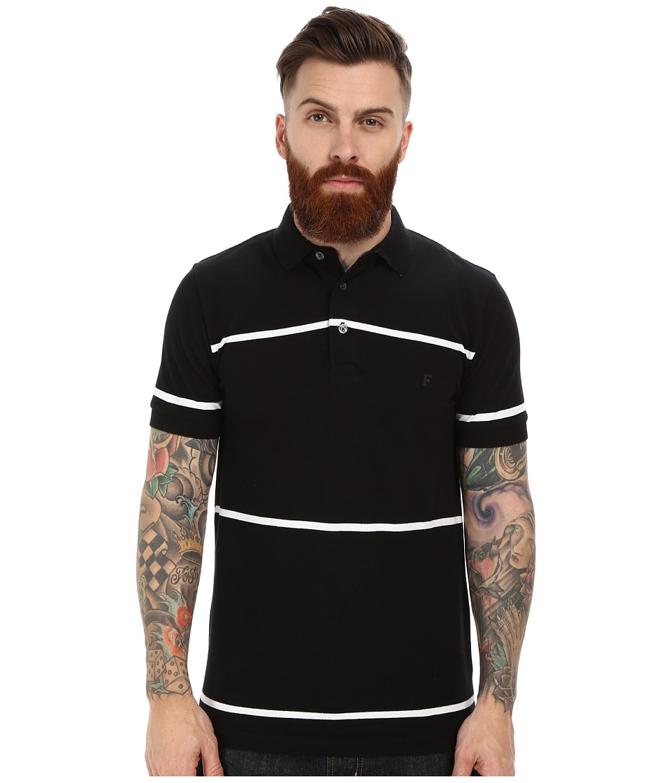 French Connection - Muscari Polo (Wide Stripe Black/White) Men