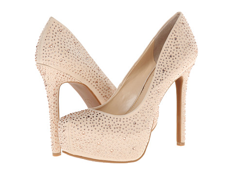 Jessica Simpson - Rebeca (Ivory Sand Microsuede/Light Peach Hot Fix) High Heels