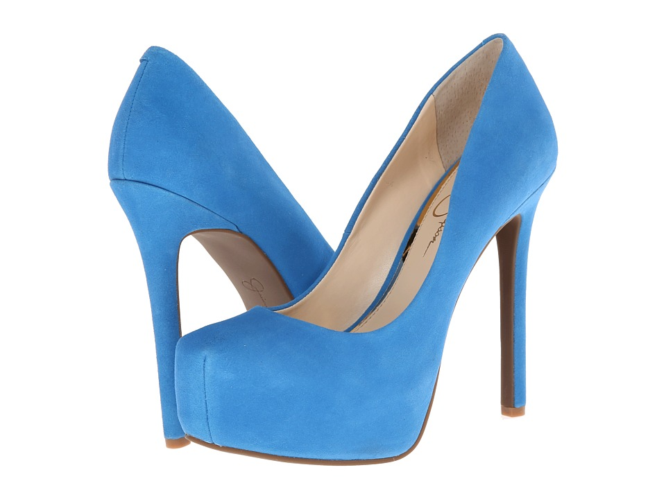 Jessica Simpson - Rebeca (Maui Blue Lux Kid Suede) High Heels