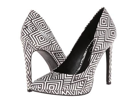 Jessica Simpson - Brynn (White/Black Graphic Snake Print) High Heels