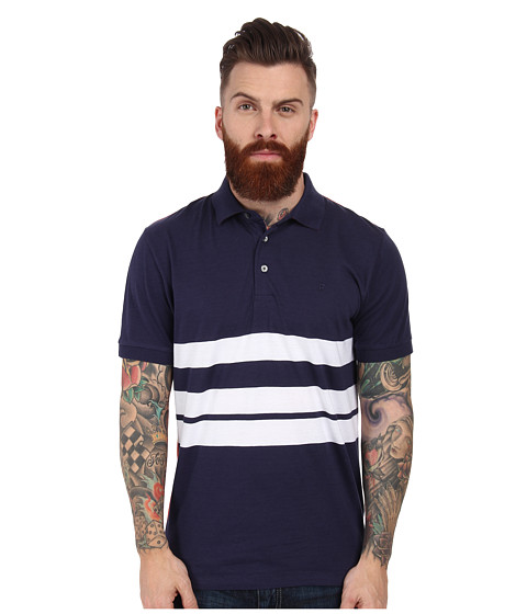 French Connection - Black Bayard Polo (Contrast/Ayers Red) Men