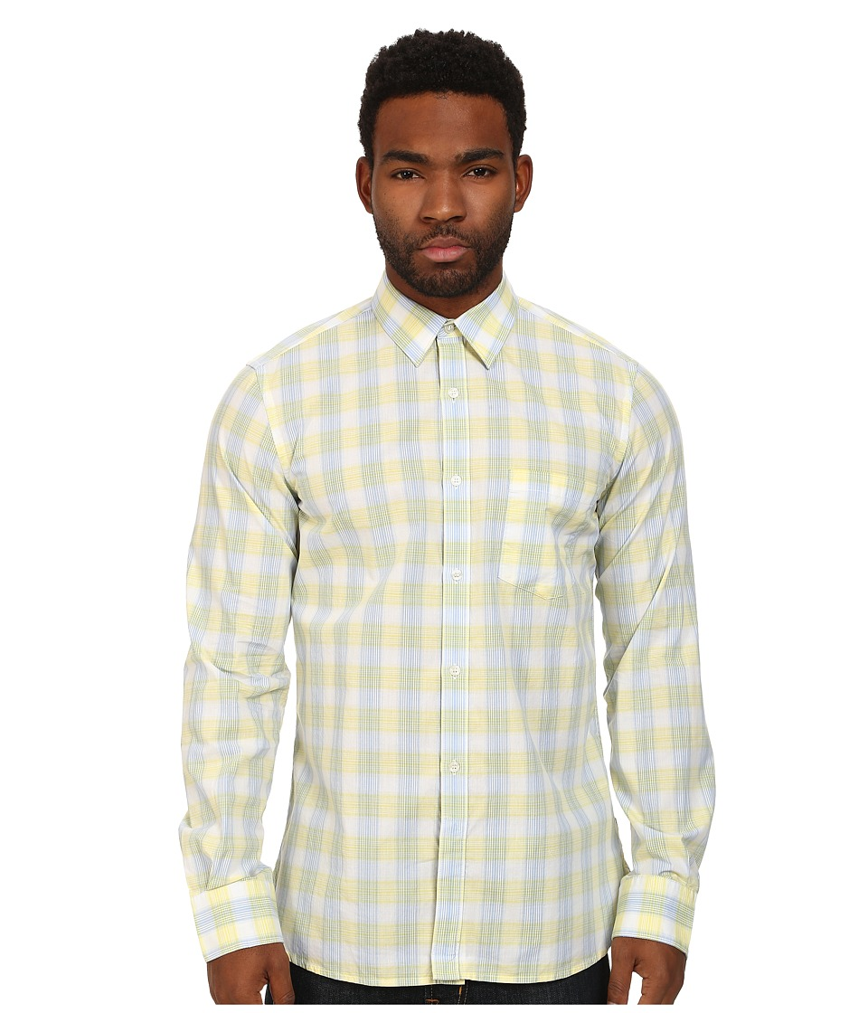 French Connection - Core Silicon Peach (Limelight Streak) Men's Long Sleeve Button Up