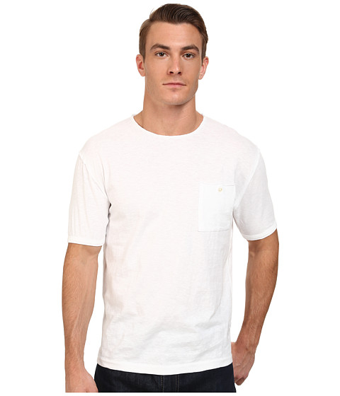 French Connection - Raw Edge Basics (White) Men's T Shirt