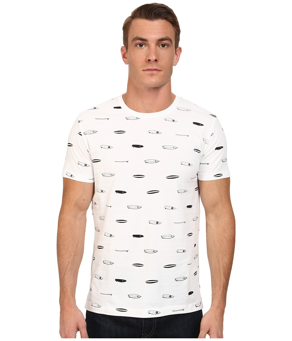 French Connection - Surf Boards Tee (White) Men's Short Sleeve Pullover