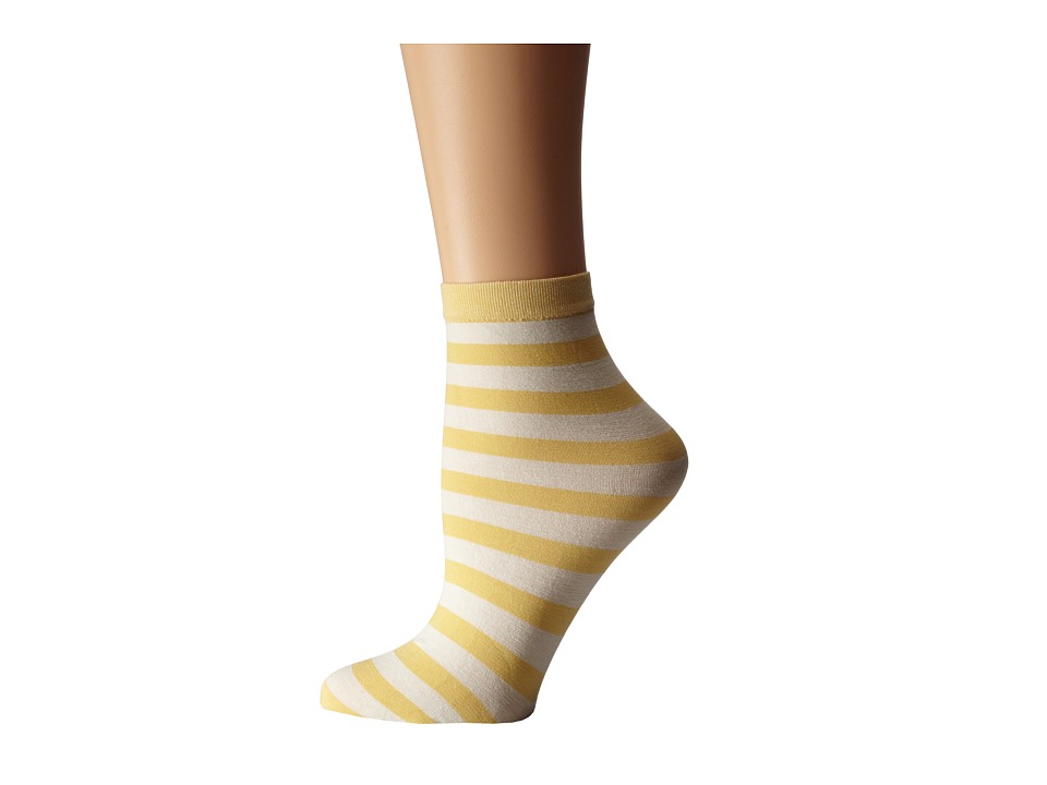 Wolford - Amelie Socks (Buff Yellow/Ecrue) Women
