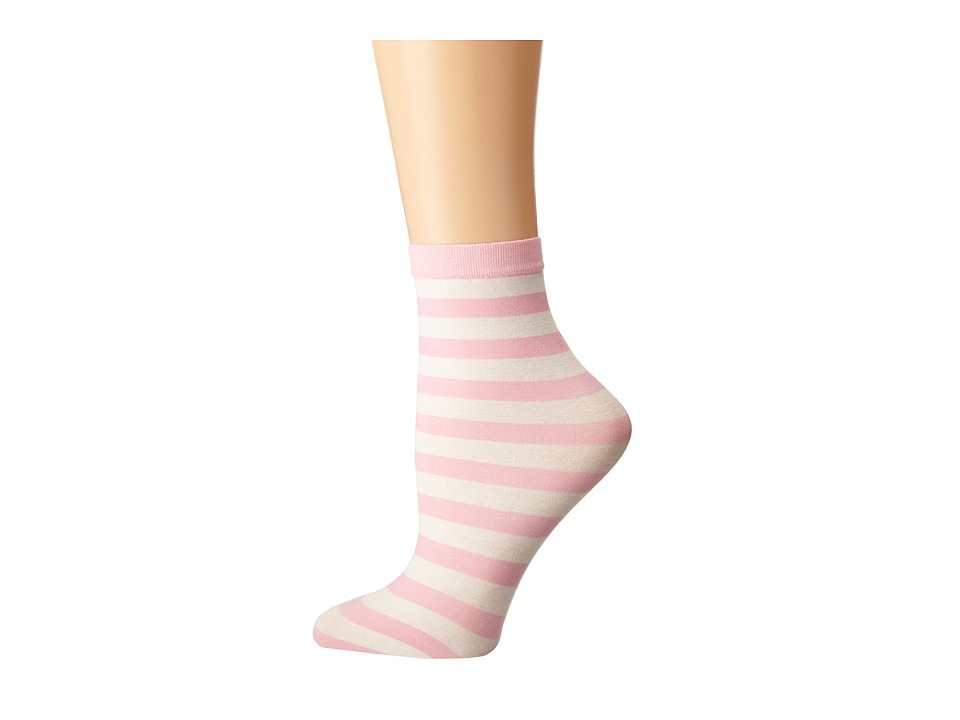 Wolford - Amelie Socks (Passion Flower/White) Women's Crew Cut Socks Shoes