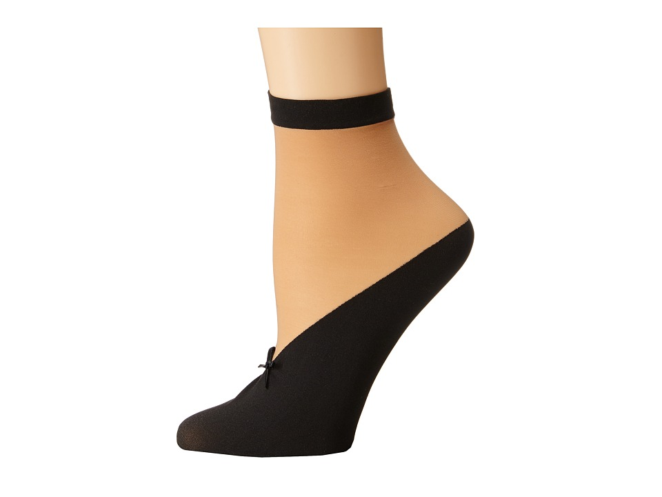 Wolford - Lisette Socks (Sahara/Black) Women's Crew Cut Socks Shoes