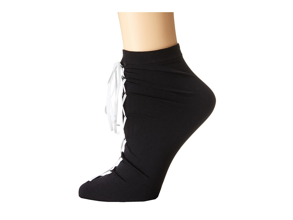 Wolford - Gisele Socks (Black/White) Women's Crew Cut Socks Shoes