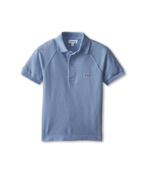 Lacoste Kids - Sunwashed Raglan Detail Pique Polo (Little Kids/Big Kids) (Fuji Used) Boy's Short Sleeve Pullover