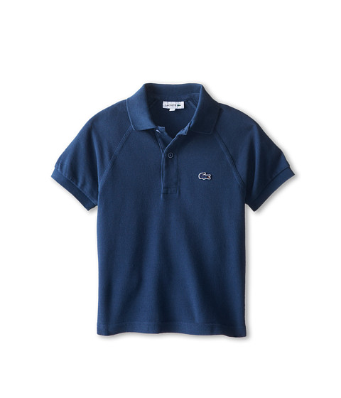 Lacoste Kids - Sunwashed Raglan Detail Pique Polo (Little Kids/Big Kids) (Philippines Blue Used) Boy's Short Sleeve Pullover