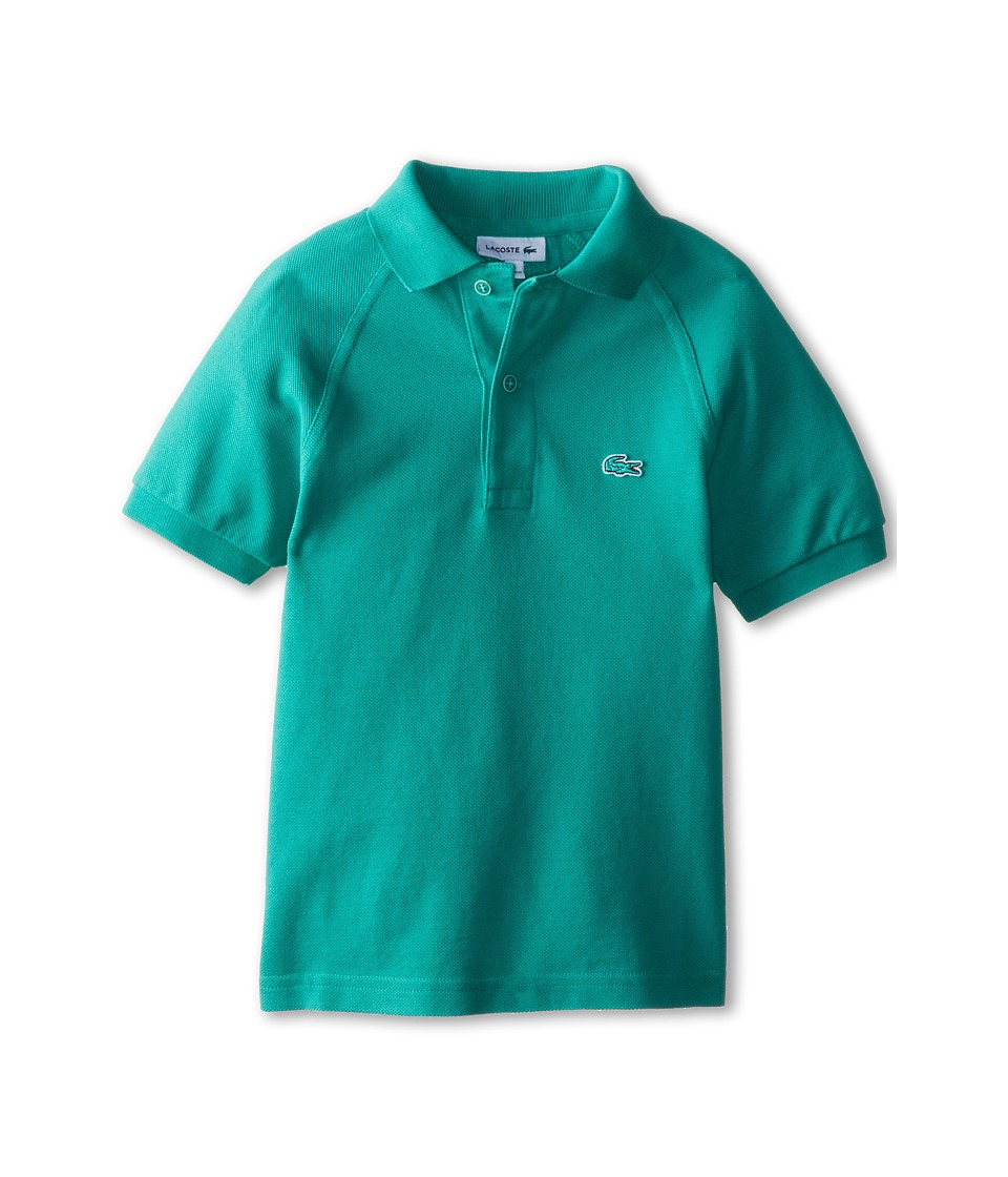 Lacoste Kids - Sunwashed Raglan Detail Pique Polo (Little Kids/Big Kids) (Dragon Used) Boy's Short Sleeve Pullover