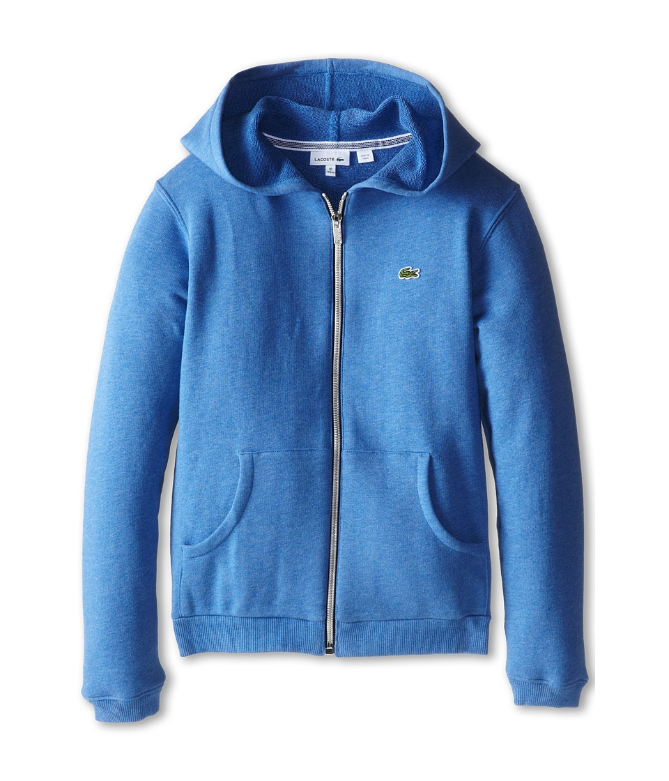 Lacoste Kids - Heathered Full Zip Sweatshirt (Infant/Toddler/Little Kids/Big Kids) (Plongeon Chine) Boy's Sweatshirt