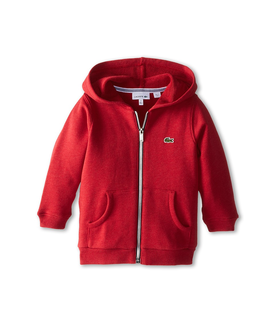 Lacoste Kids - Heathered Full Zip Sweatshirt (Infant/Toddler/Little Kids/Big Kids) (Tokyo Chine) Boy's Sweatshirt